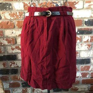 Mango Suit Skirt w/ Belt size 6